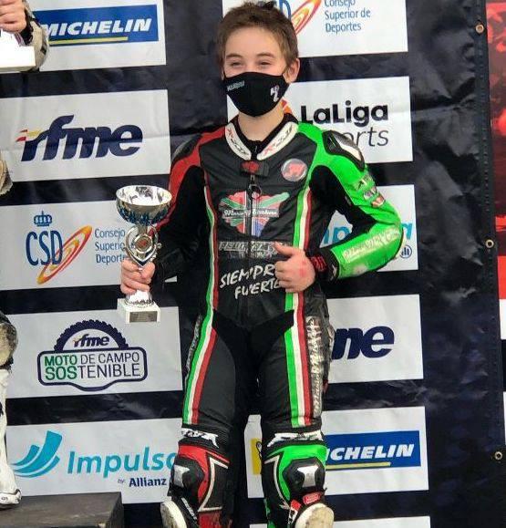 """Beñat Fernandez """"Pelontxu"""" Espainiako motoen 85 cc mailan txapeldunorde"""