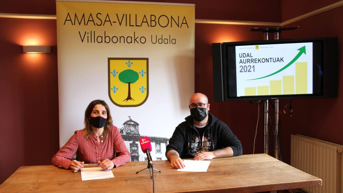 2021eko udal aurrekontuak aurkeztu ditu Amasa-Villabonako udal gobernuak