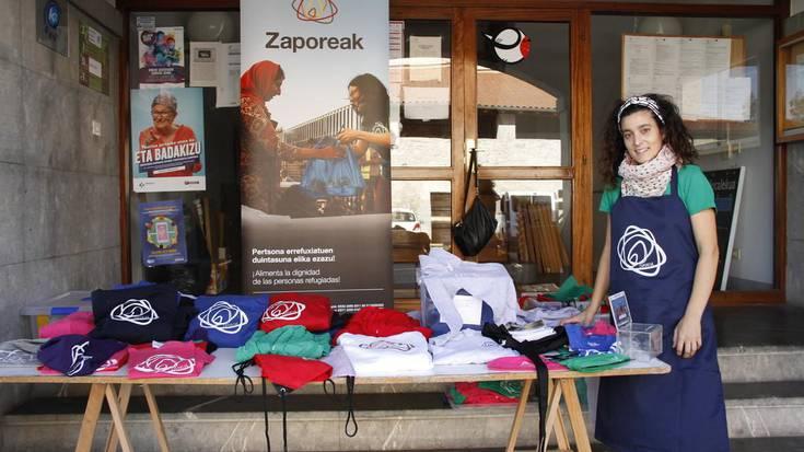 Errefuxiatuen aldeko bazkari solidarioa Larraulen