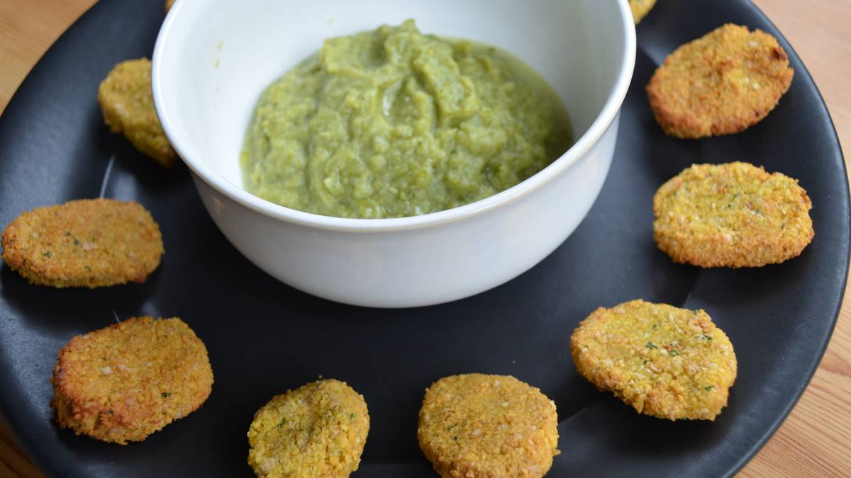 Falafelak brokoli saltsan Maddi Etxeberriaren eskutik