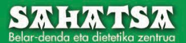 Sahatsa belar-denda eta dietetika zentrua logotipoa