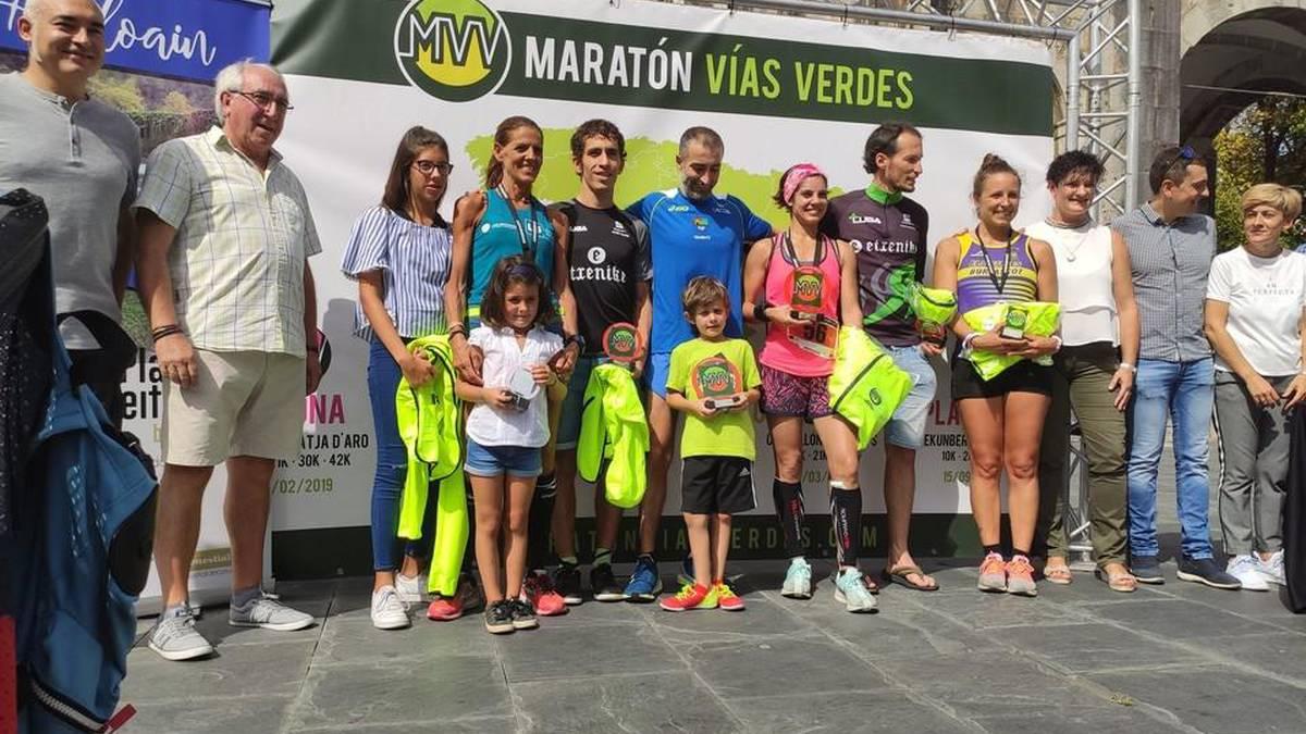 Plazaola natur bideko maratoieko irabazleak