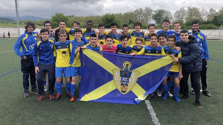 Danena futbol taldeko kadeteak Euskal Ligan arituko dira