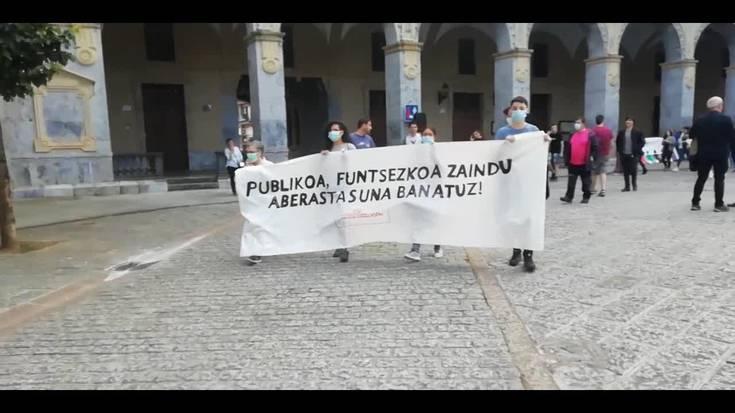 Eskubide Sozialen Kartak deitutako manifestazioa