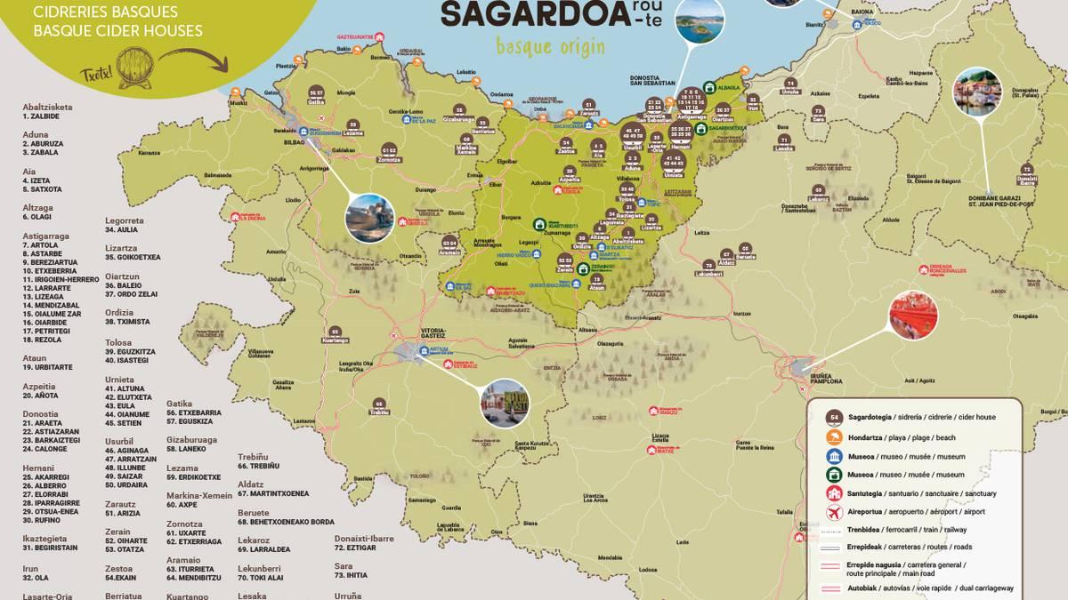 'Sagardoa Route', sagardotegi-bilatzailea
