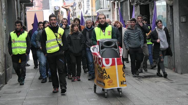 Greba Orokorrak goizean utzitako irudiak Villabonan