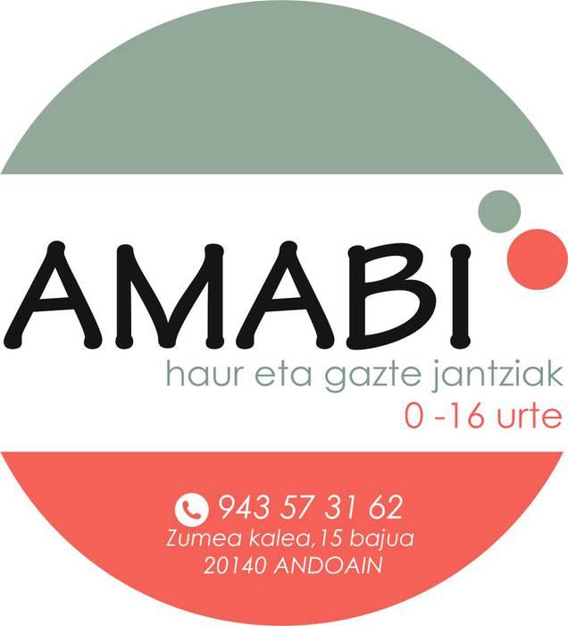 Amabi haur eta gazte jantziak logotipoa