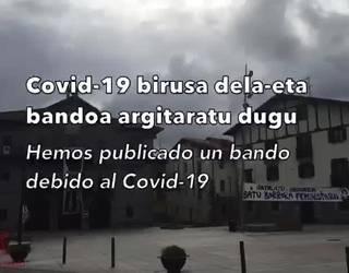 Asteasuko Udalaren bideoa Covid-19 birusa saihesteko neurriekin