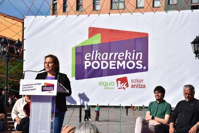 Teresa Santana alkategaiaren eta Elkarrekin Podemosen aurkezpen ekitaldia