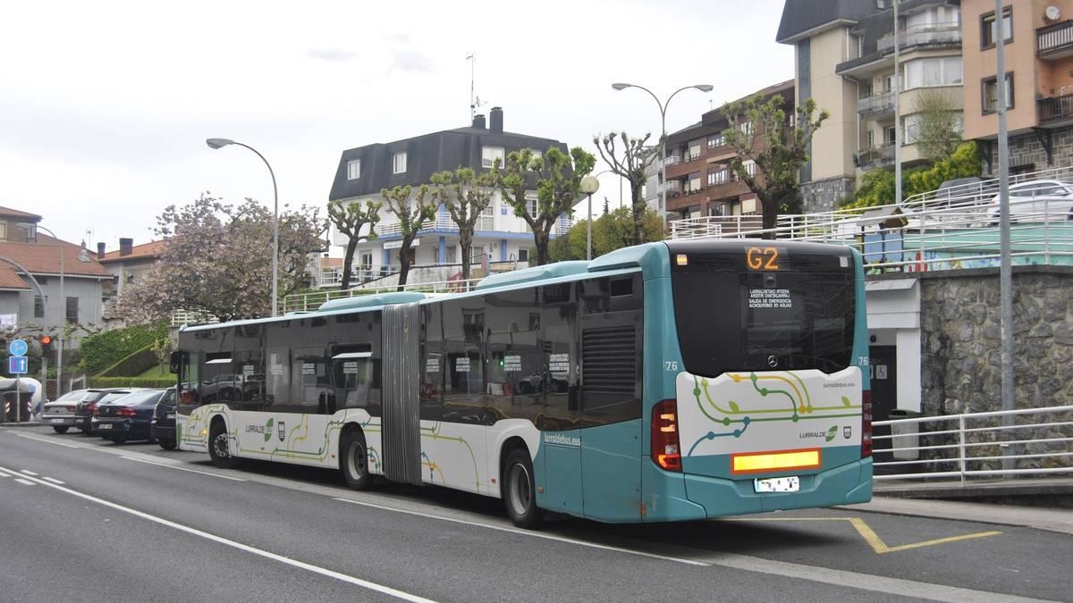 Buruntzaldean autobusen zerbitzuen murrizketa COVID-19-ren ondorioz