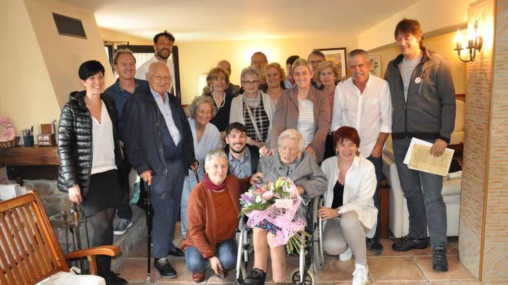 Margarita Eizmendik 100 urte bete ditu gaur
